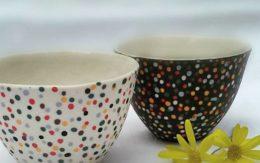 Slip casting coloured porcelain – lavorazione a colaggio di porcellana colorata - Sara Kirschen