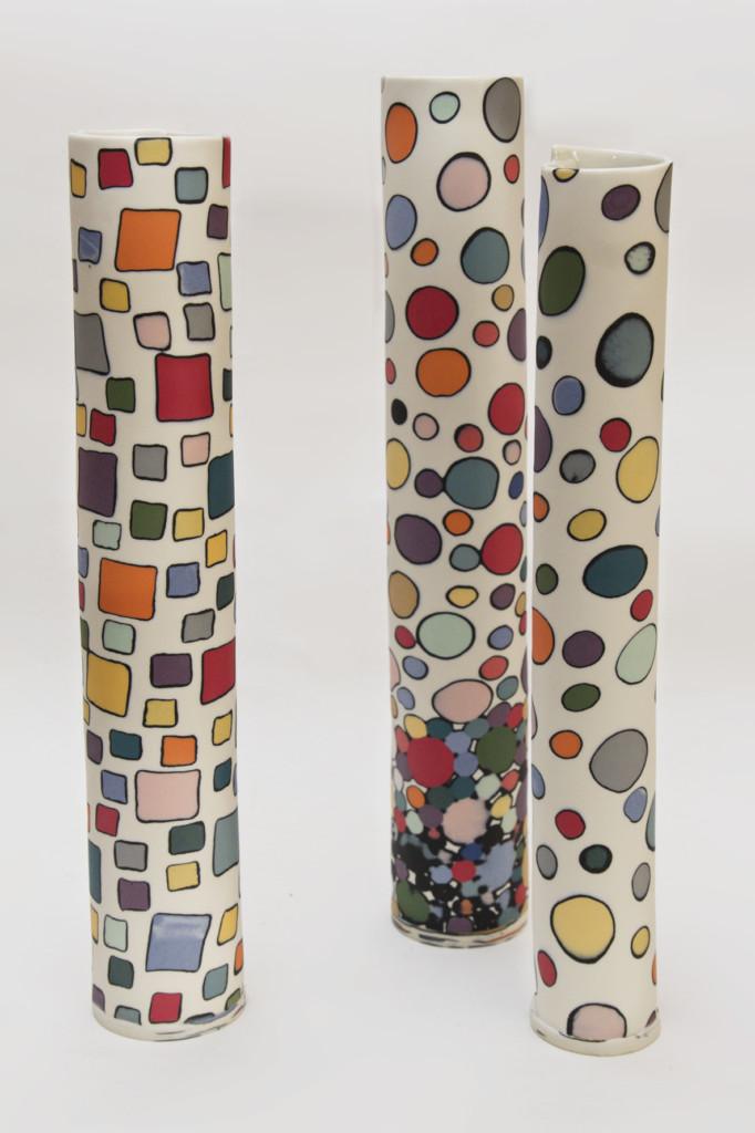 Sara Kirschen coloured porcelain